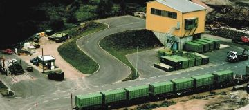 Waste Transfer station with railway transport, Germany