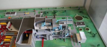 WtE plant model before realisation, WtE plant Rostock, Germany
